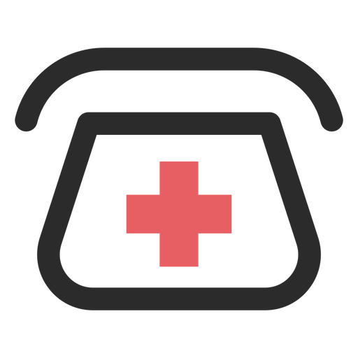 Hospital icono de trazo coloreado teléfono Transparent PNG
