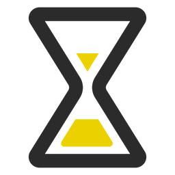 Hourglass colored stroke icon