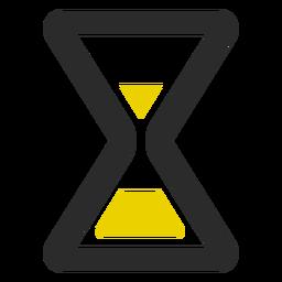 Icono de trazo de color de reloj de arena