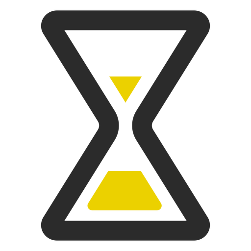 Icono de trazo coloreado reloj de arena Transparent PNG