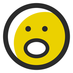 Emoticon de curso colorido em silêncio