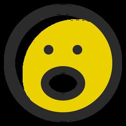 Emoticon de trazo coloreado silencioso