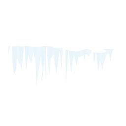 Eiszapfen-Schnee-Symbol