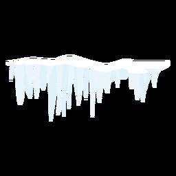 Icono de nieve carámbano