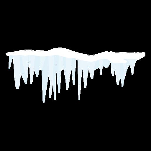 Ícone de neve de sincelo Transparent PNG