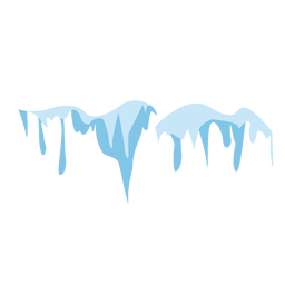 Icicles snow cap icon