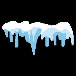 Icono de gorro de nieve de carámbanos