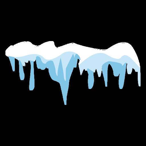 Icicles snow cap icon