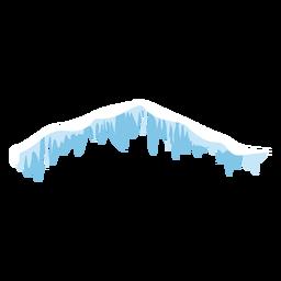 Icicles, nieve, icono