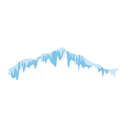 Icicles snow icon