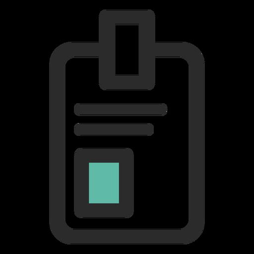 Ícone de traço colorido de crachá de identificação Transparent PNG