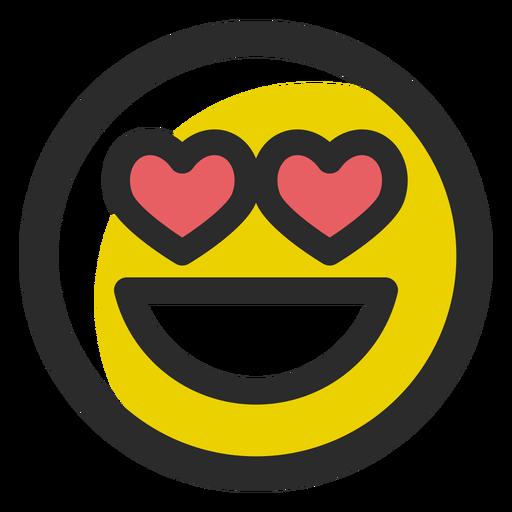 En el amor de color trazo emoticon Transparent PNG