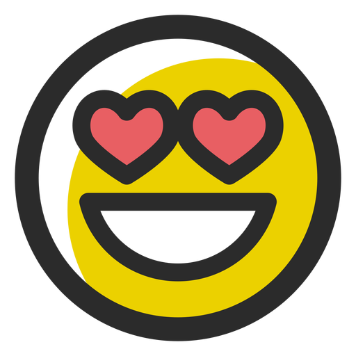 In love colored stroke emoticon Transparent PNG