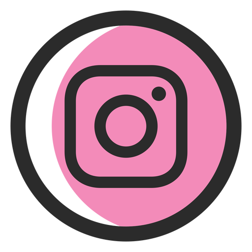 Icono de trazo de color de Instagram Transparent PNG