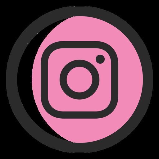 Icono de trazo de color de Instagram