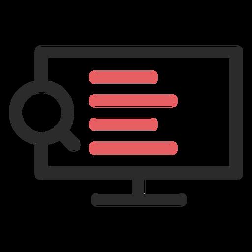 Ícone de traço colorido de pesquisa na Internet Transparent PNG