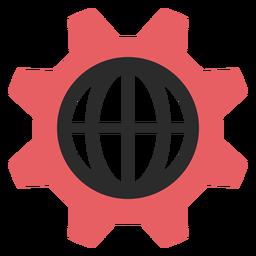 Ícone de traço colorido de configurações da Internet