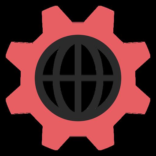 Ícone de traço colorido de configurações da Internet Transparent PNG
