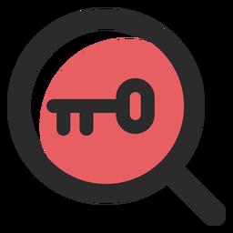 Palavras-chave pesquisa ícone de traço colorido