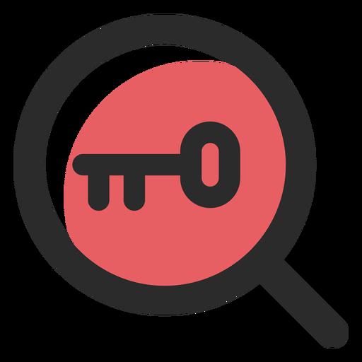 Icono de trazo de color de búsqueda de palabras clave Transparent PNG
