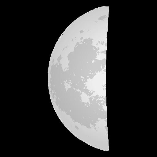 Icono del último cuarto de luna Transparent PNG