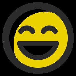 Emoticon de trazo de color riendo