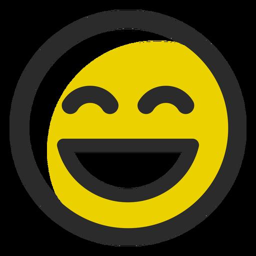 Lachender farbiger Anschlag Emoticon Transparent PNG