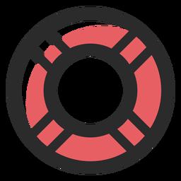 Icono de trazo de salvavidas de color