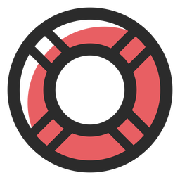 Lifebelt colored stroke icon