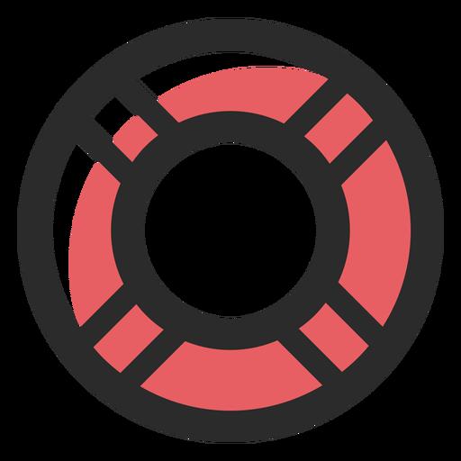 Icono de trazo de salvavidas de color Transparent PNG