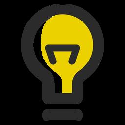 Ícone de traço colorido de lâmpada