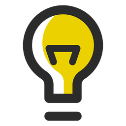 Light bulb colored stroke icon