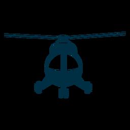 Helicóptero ligero vista frontal silueta
