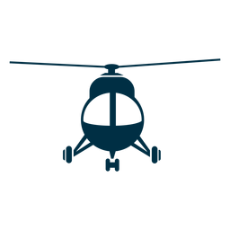 Light helicopter front view silhouette
