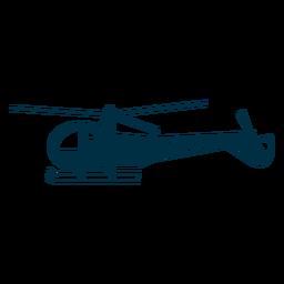 Silhueta de helicóptero leve