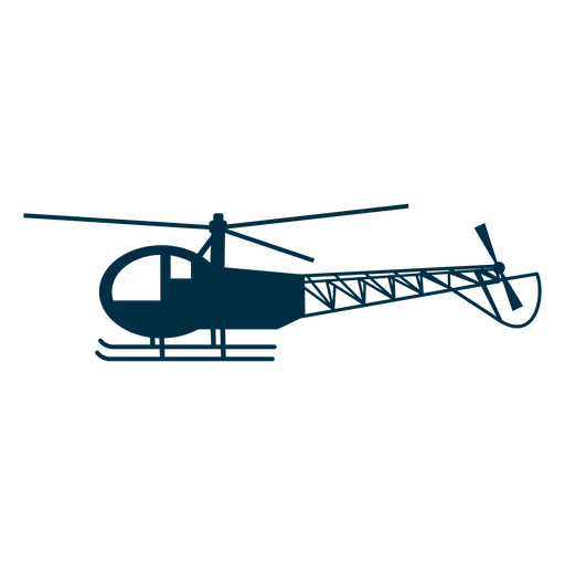 Silhueta de helicóptero leve Transparent PNG