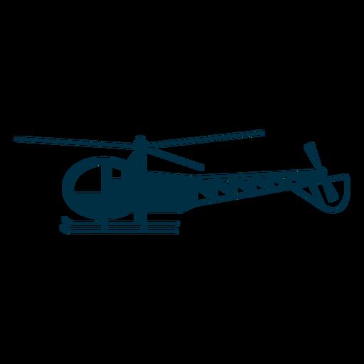 Silueta de helicóptero ligero