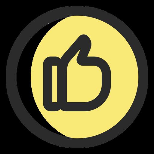 Como ícones sociais de ícone de traço colorido