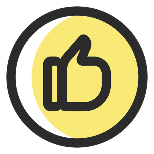 Like colored stroke icon social icons
