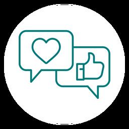 Likes und Reaktionen Schlaganfall-Symbol