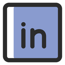Linkedin colored stroke icon