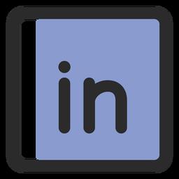 Linkedin farbiges Strichsymbol