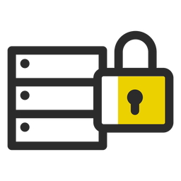 Locked archive colored stroke icon