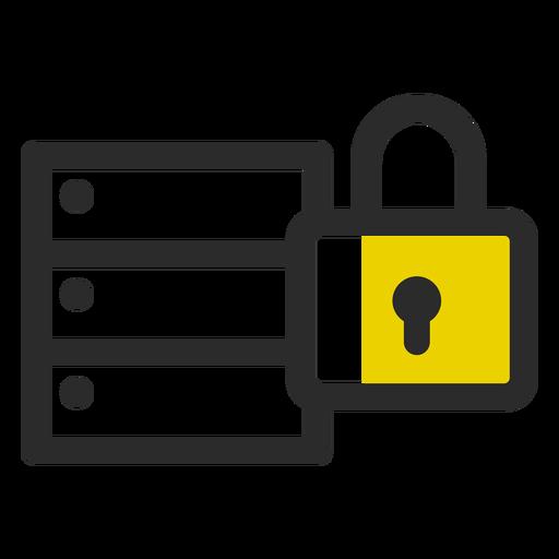 Ícone de traço colorido de arquivo bloqueado Transparent PNG