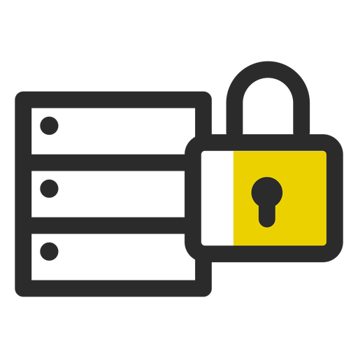 Locked archive colored stroke icon Transparent PNG