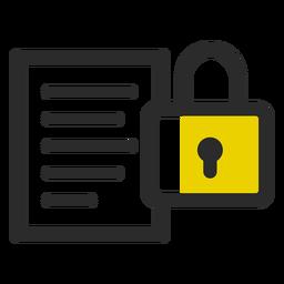 Archivo bloqueado icono de trazo de color