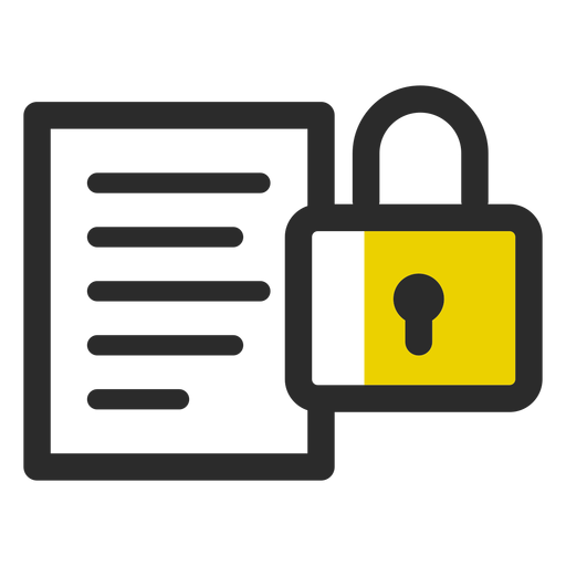Locked file colored stroke icon Transparent PNG