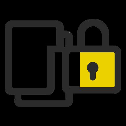 Carpetas bloqueadas icono de trazo de color Transparent PNG