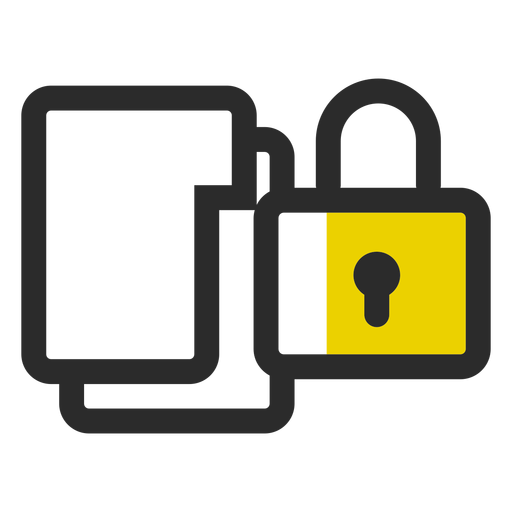 Locked folders colored stroke icon Transparent PNG