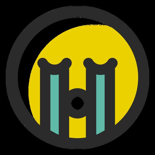 Emoticon de choro colorido em voz alta Transparent PNG